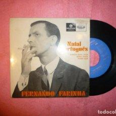 "Discos de vinilo: 7"" FERNANDO FARINHA - NATAL PORTUGUES - EP - PORTUGAL - PARLOPHONE ?LMEP 1327 (VG+/VG++). Lote 218900261"