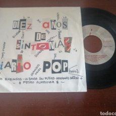 Discos de vinilo: DIEZ AÑOS DE SINTONÍAS DE DIARIO POP RADIO 3 LOQUILLO. Lote 218903421