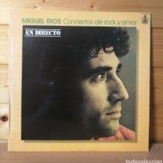 Discos de vinilo: LP ALBUM , MIGUEL RIOS , CONCIERTOS DE ROCK Y AMOR. Lote 218906045