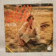 Discos de vinilo: JOAN MANUEL SERRAT - FIESTA / SEÑORA - SINGLE NOVOLA DEL AÑO 1970 EN EXCELENTE ESTADO. Lote 218920555