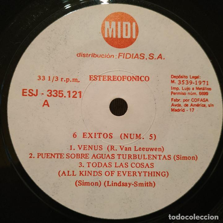Discos de vinilo: 6 Exitos - Mini-Album Midi 7 a 33 rpm (6 temas) Distribución Fidias Año 1971 Temas en las fotos EX - Foto 3 - 218931142