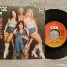 Discos de vinilo: GEORGIE DANN ?– BRASILIA CARNAVAL / A.I.E. (A. MWANA) - SINGLE SPAIN DEL AÑO 1976 EN MUY BUEN ESTADO. Lote 218941438