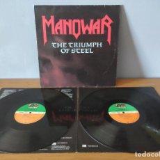 Disques de vinyle: MANOWAR - THE TRIUMPH OF STEEL. Lote 218953758