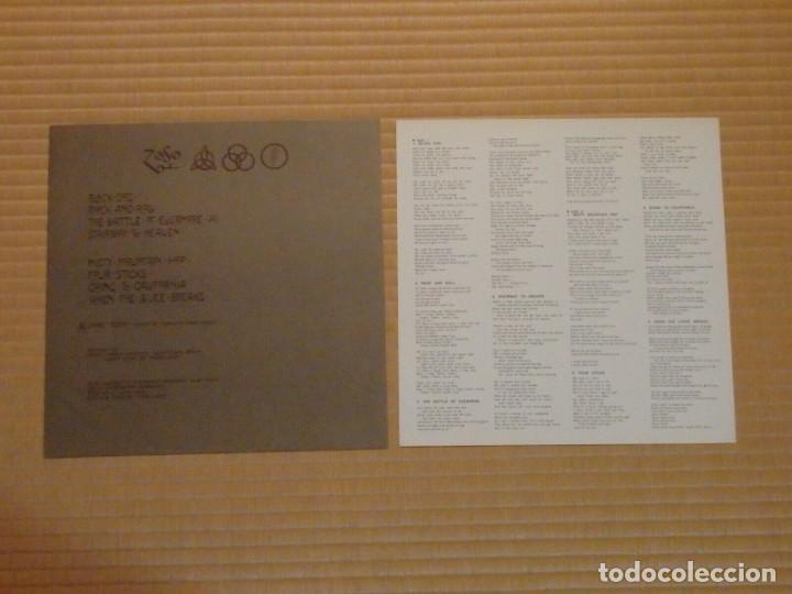 Discos de vinilo: VINILO EDICIÓN JAPONESA DEL LP DE LED ZEPPELIN IV ¡ LEER DESCRIPCIÓN ¡ - Foto 6 - 218957593