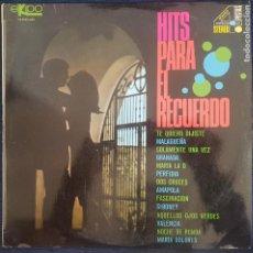 Discos de vinilo: HITS PARA EL RECUERDO / LP EKIPO DE 1968 / BUEN ESTADO RF-8677. Lote 218961453