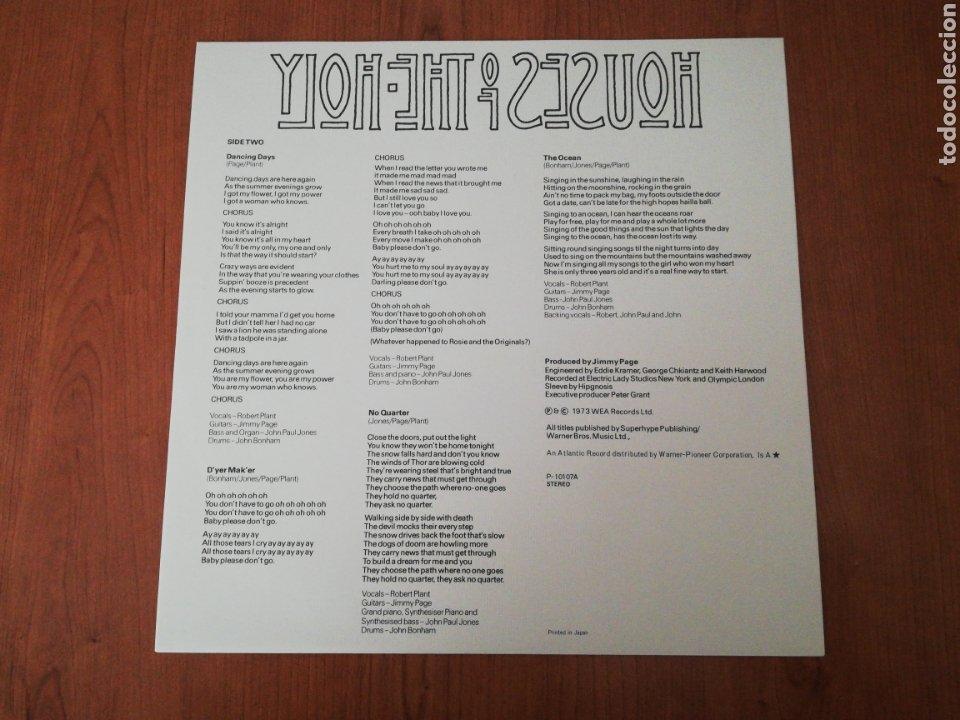 Discos de vinilo: VINILO EDICIÓN JAPONESA DEL LP DE LED ZEPPELIN HOUSES OF THE HOLY - Foto 4 - 218963852