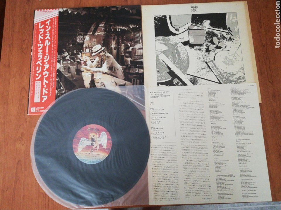 VINILO EDICIÓN JAPONESA DEL LP DE LED ZEPPELIN IN THROUGH THE OUT DOOR (Música - Discos - LP Vinilo - Pop - Rock - Extranjero de los 70)