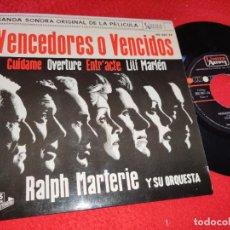 Discos de vinilo: VENCEDORES O VENCIDOS BSO OST RALPH MARTERIE CUIDAME/LILI MARLEN +2 EP 1962 ESPAÑA SPAIN EX. Lote 218970198