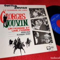 Discos de vinilo: GEORGES JOUVIN DOCTOR ZHIVADO + UN HOMME ET UNE FEMME BSO OST EP 1966 ESPAÑA SPAIN EX. Lote 218970321