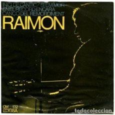 Discos de vinilo: RAIMON – (VI) INICI DE CÀNTIC - EP SPAIN 1966. Lote 218974450