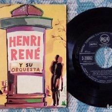 Discos de vinilo: SINGLE HENRI RENÉ Y SU ORQUESTA - BANDAS SONORAS PELÍCULAS - ¡UNICO ENVIO A FINAL DE MES!. Lote 218976353