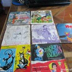 Discos de vinilo: LOTE DE DISCOS SINGLES INFANTILES. Lote 218989350