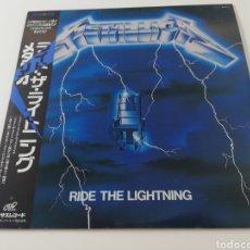 Discos de vinilo: VINILO EDICIÓN JAPONESA DEL LP DE METALLICA RIDE THE LIGHTNING K25P 501. Lote 218991397