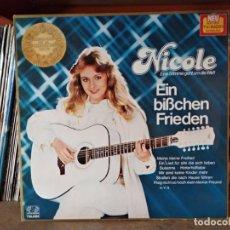 Discos de vinilo: NICOLE ?– EIN BISSCHEN FRIEDEN EUROVISION 1982 ALEMANIA. Lote 218994100