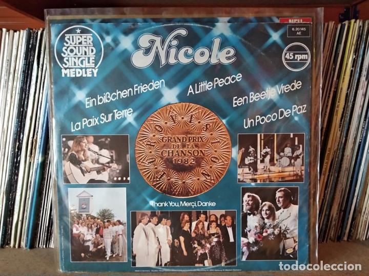 NICOLE ?– EIN BISSCHEN FRIEDEN (MEDLEY) MAXI EUROVISIÓN 1982 ALEMANIA (Música - Discos de Vinilo - Maxi Singles - Festival de Eurovisión)