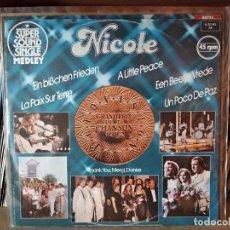 Discos de vinilo: NICOLE ?– EIN BISSCHEN FRIEDEN (MEDLEY) MAXI EUROVISIÓN 1982 ALEMANIA. Lote 218995006