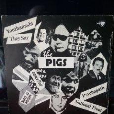 Discos de vinilo: THE PIGS 1977 BRISTOL PUNK .BUEN ESTADO. Lote 218996662