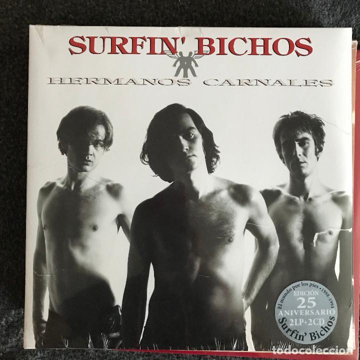 SURFIN' BICHOS - HERMANOS CARNALES (1992) - LP DOBLE + 2CD REEDICIÓN SONY 2017 NUEVO (Música - Discos - LP Vinilo - Grupos Españoles de los 90 a la actualidad)