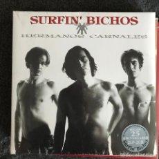 Discos de vinilo: SURFIN' BICHOS - HERMANOS CARNALES (1992) - LP DOBLE + 2CD REEDICIÓN SONY 2017 NUEVO. Lote 218999015