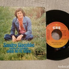 Discos de vinilo: SANDRO GIACOBBE - AMOR NO TE VAYAS + 1 RARO SINGLE DE VINILO CANTADO EN ESPAÑOL - COMO NUEVO. Lote 219009971