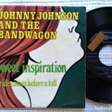 "Discos de vinilo: JOHNNY JOHNSON AND THE BANDWAGON - "" SWEET INSPIRATION "" SINGLE 7"" PROMO SPAIN 1970. Lote 219014991"