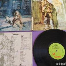 Discos de vinilo: LP. JETHRO TULL AQUALUNG 1977 CHRYSALIS Nº 85.383.SPAIN. GATEFOLD TEXTURED PORTADA RUGOSA + LETRAS.. Lote 219020350