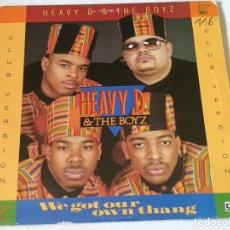 Discos de vinilo: HEAVY D. & THE BOYZ - WE GOT OUR OWN THANG - 1989. Lote 219021376