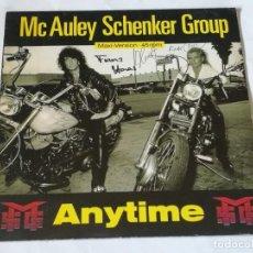 Discos de vinilo: MCAULEY SCHENKER GROUP - ANYTIME - 1990. Lote 219021432