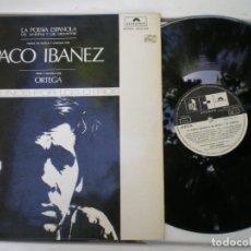 Discos de vinilo: PACO IBAÑEZ, LA POESIA DE AHORA Y SIEMPRE. Lote 219026261