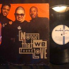Discos de vinilo: HEAVY D. & THE BOYZ ?– NOW THAT WE FOUND LOVE. Lote 219030507