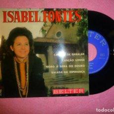 "Discos de vinilo: 7"" ISABEL FONTES - CANÇAO DE EMBALAR - EP - BELTER 51.986 - SPAIN PRESS (EX/EX). Lote 219030788"