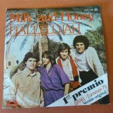Discos de vinilo: MILK AND HONEY. HALLELUJAH. 1ER PREMIO ISRAEL- EUROVISIÓN 79. VERSIÓN ORIGINAL.. Lote 219039582