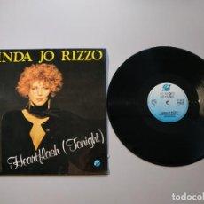 Discos de vinilo: 0920- LINDA JO RIZZO HEARTFLASH TONIGHT ESPAÑA 1987 MAXI SINGLE VIN POR VG + DIS NM. Lote 219044595