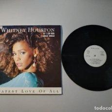 Discos de vinilo: 0920- WHITNEY HOUSTON GREATEST LOVE OF ALL MAXI SINGLE ES 1985 PROMO VIN POR VG+ DIS VG. Lote 219045477