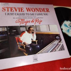 Discos de vinilo: STEVIE WONDER I JUST CALLED TO SAY I LOVE YOU/INSTRUMENTAL 12'' MX 1984 MUJER DE ROJO BSO OST ESPAÑA. Lote 219049426