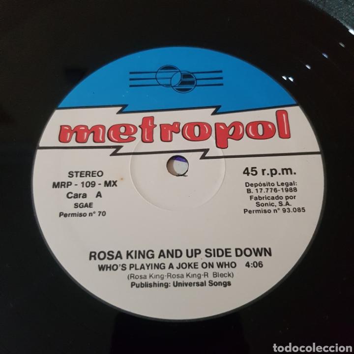 Discos de vinilo: ROSA KING & UP SIDE DOWN - WHOS PLAYING A JOKE ON WHO - Foto 3 - 219054777