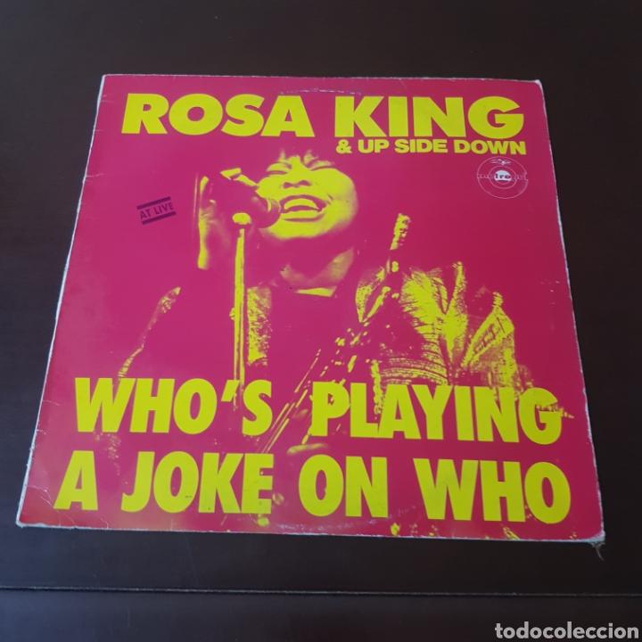 ROSA KING & UP SIDE DOWN - WHO'S PLAYING A JOKE ON WHO (Música - Discos de Vinilo - Maxi Singles - Jazz, Jazz-Rock, Blues y R&B)