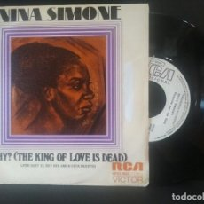 Discos de vinilo: NINA SIMONE WHY? THE KING OF LOVE IS DEAD SINGLE SPAIN 1974 PDELUXE. Lote 219058030