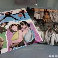 Discos de vinilo: LOTE PACK 2 LPS VINILOS INHUMANOS - OBJETIVO BIRMANIA - MOVIDA POP AÑOS 80. Lote 219058960
