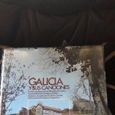 Discos de vinilo: ANTIGUO LP, GALICIA Y SUS CANCIONES, DE 1973, SIN ESTRENAR. Lote 219061042
