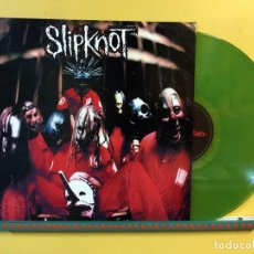 Discos de vinilo: SLIPKNOT LP SLIPKNOT VINILO COLOR VERDE EDICION LIMITADA MUY RARO COLECCIONISTA. Lote 219064430