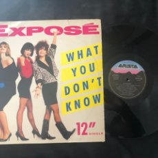 Discos de vinilo: EXPOSÉ ?– WHAT YOU DON'T KNOW. Lote 219077837