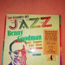 Discos de vinilo: BENNY GOODMAN, LIONEL HAMPTON - LOS GRANDES DEL JAZZ 4 - LP SARPE 1980. Lote 219087350