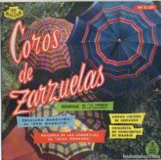 Discos de vinilo: COROS DE ZARZUELA - ORQUESTA DE CONCIERTOS DE MADRID / EP HISPAVOX / MUY BUEN ESTADO RF-4564. Lote 219097551