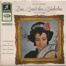 Discos de vinilo: FRANZ LEHAR - DAS LAND DES LÄCHELNS / EP COLUMBIA / MUY BUEN ESTADO RF-4570. Lote 219098652