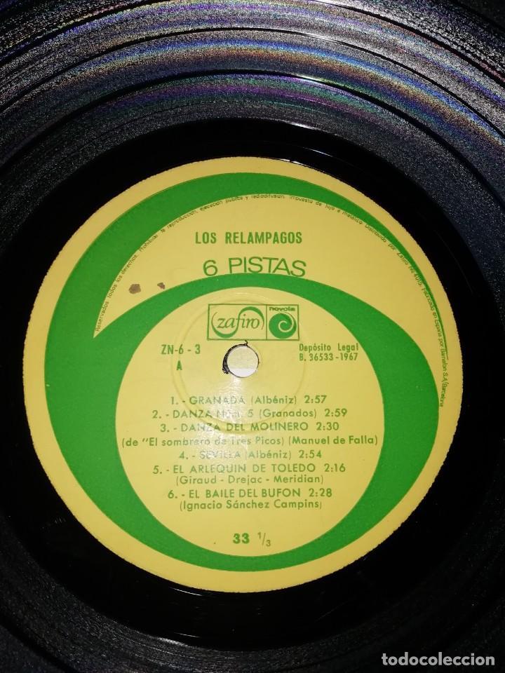 Discos de vinilo: Los Relámpagos LP. 6 Pistas Zafiro 1967. ZN 6- 3 S. - Foto 4 - 219099195