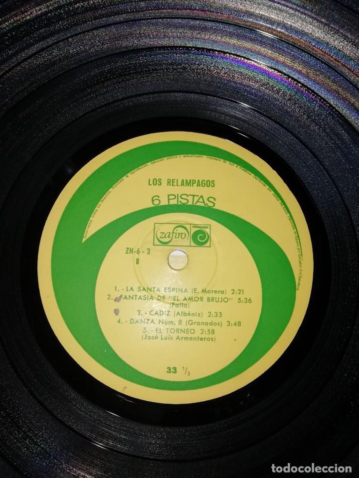 Discos de vinilo: Los Relámpagos LP. 6 Pistas Zafiro 1967. ZN 6- 3 S. - Foto 6 - 219099195