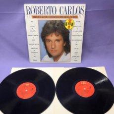 Discos de vinilo: LP ROBERTO CARLOS -- TODOS SUS GRANDES EXITOS -- SUS 20 MEJORES CANCIONES -- VG. Lote 219106076