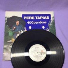 Discos de vinilo: LP PERE TAPIAS -- 400 PENDONS --VG. Lote 219106782