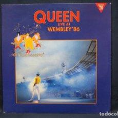 Discos de vinilo: QUEEN - LIVE AT WEMBLEY 86 - 2 LP. Lote 219112663